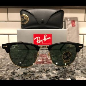 Rayban clubmaster RB3016 black and green